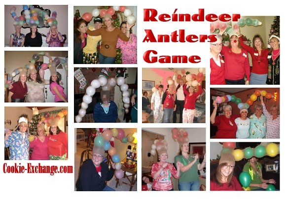 Reindeer Antlers Balloon Game Party Games At Cookie Exchange Com